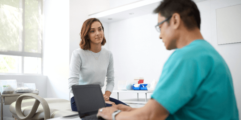 Mobile Workplace-Lösungen bei der Patientenbehandlung.